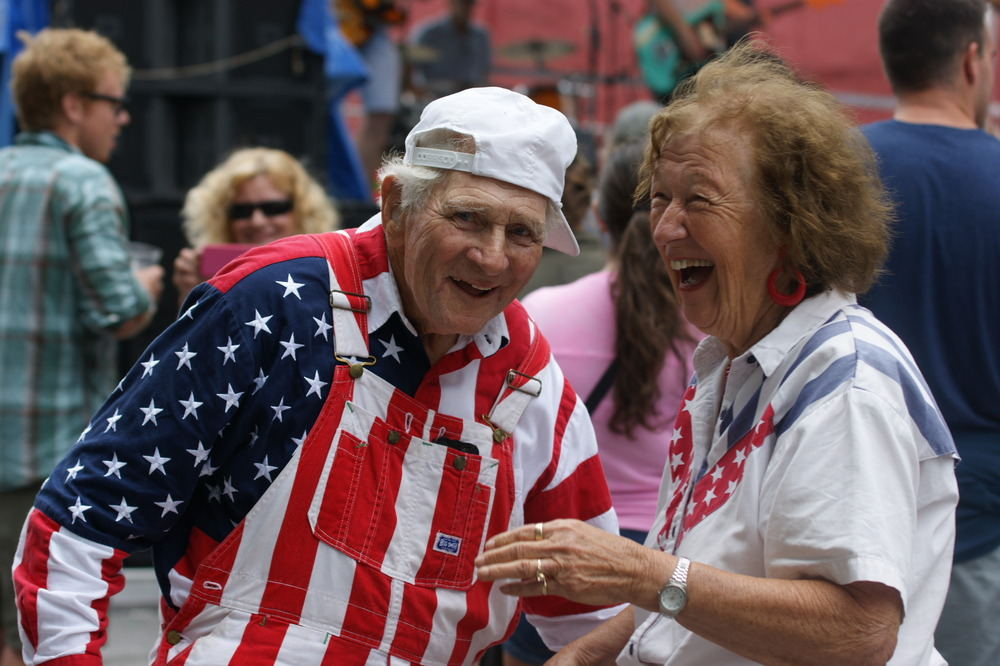 Many attendees will recognize this patriotic couple for their enthusiastic dance moves.