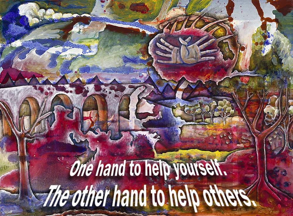 Helping Hands, Oil on canvas, 2007