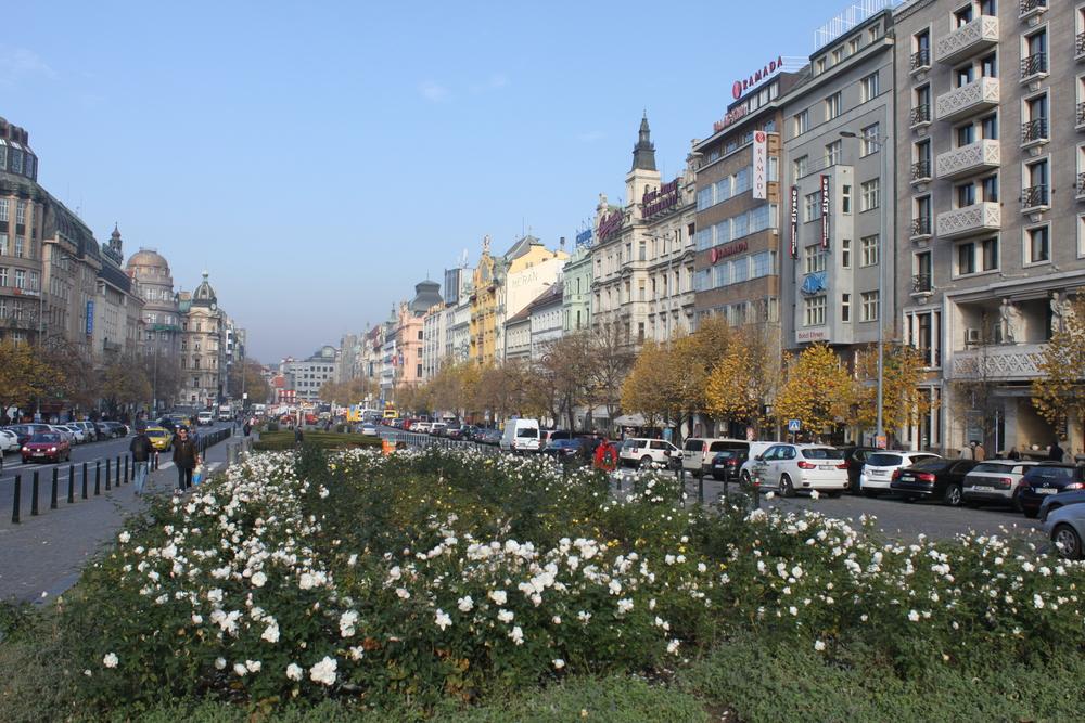 St Wensaslas Square at Daytime  Prague