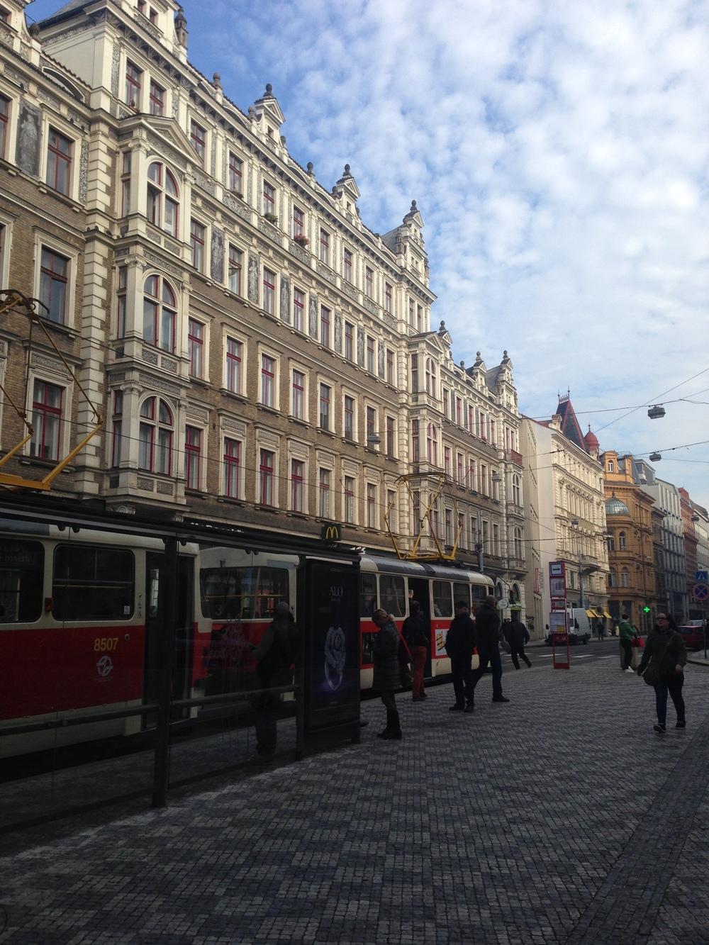 Prague Street and Tram