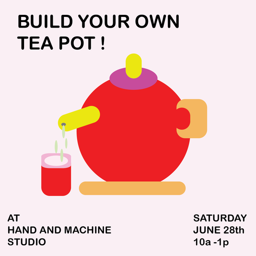 http://www.handandmachinestudio.com/classes-workshops/make-your-own-tea-pot-workshop