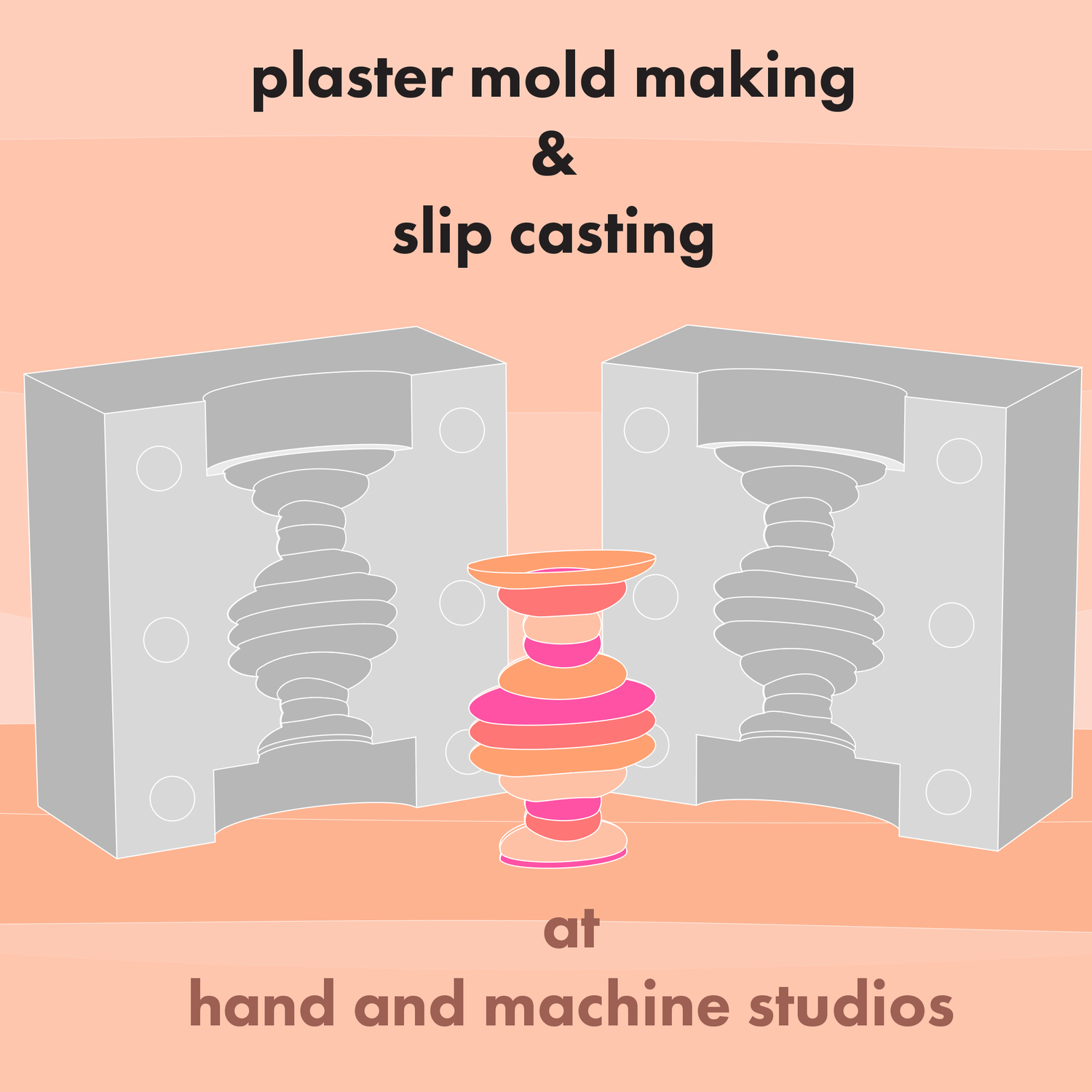 Plaster Mold Making & Slip Casting : Starts March 5th Sunday morning
