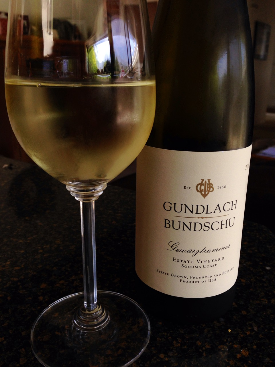 A summery Sonoma Gerwurtztraminer for an almost-summer afternoon