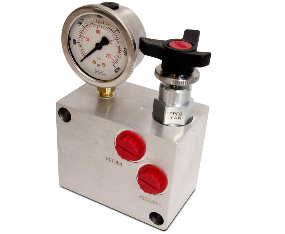 ZRX MANUAL CONTROL VALVE WITH PRESSURE GAUGE