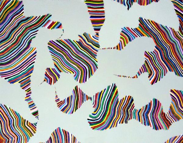 Caffeinated Consciousness, 2012, 11 x 14 in., Acrylic on masonite