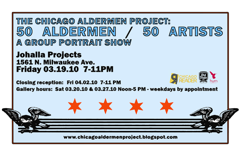 """Postcard from the 2010 exhibition """"The Chicago Alderman Project"""""""