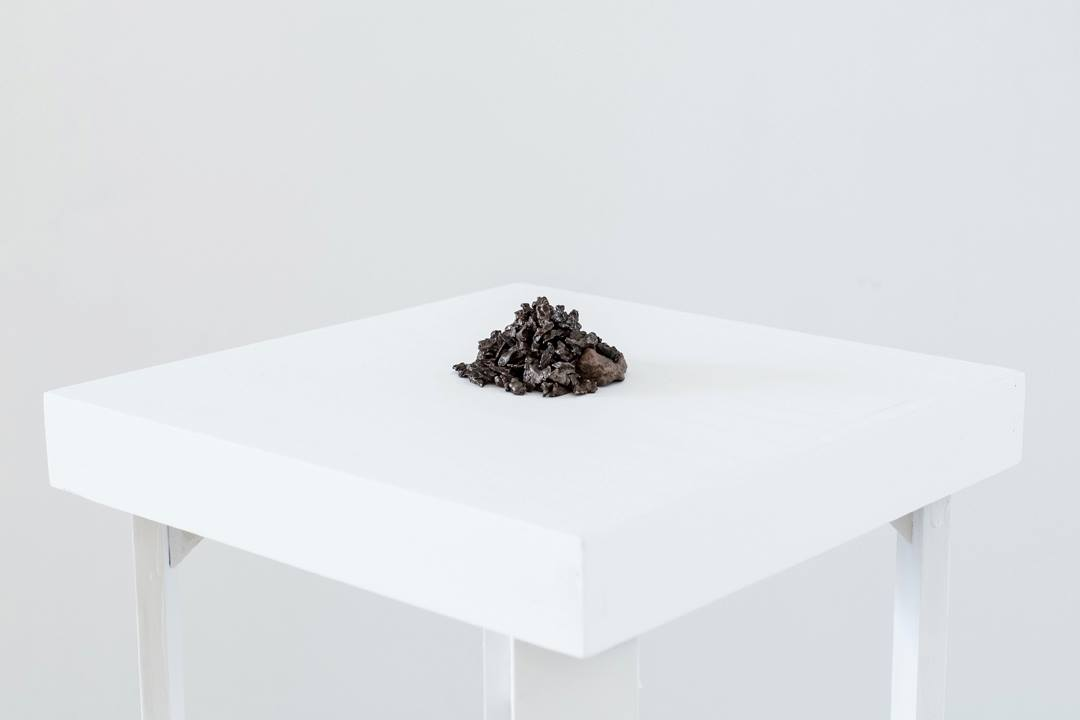 Joseph Rynkiewicz,Cairn,2013, Meteorites bought from eBay Open hours tonight from 7-10pm!