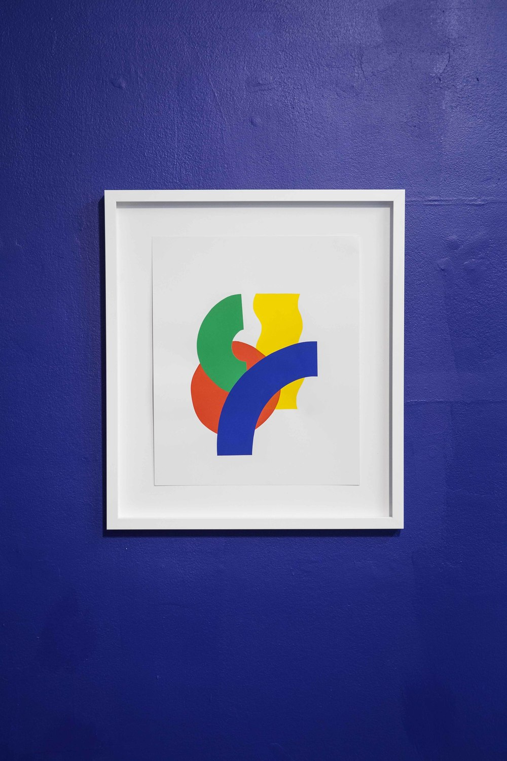 Phases of a Slinky  , 2014 Silkscreen and cut paper on bristol board, framed 20 x 23 inches