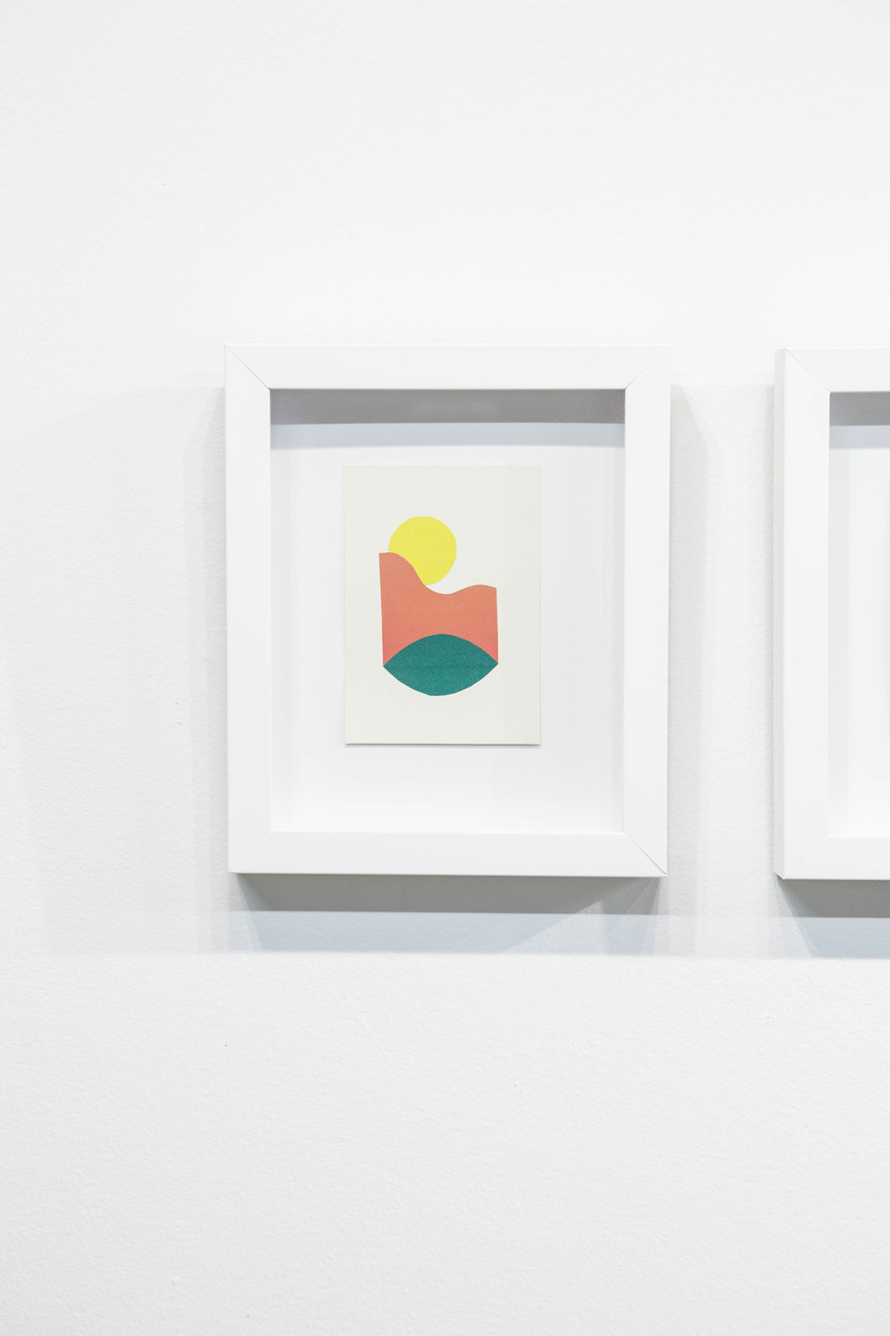 Shape & Color Studies #311  , 2014 Found cut paper on found paper, framed 6   1⁄2   x 8 inches