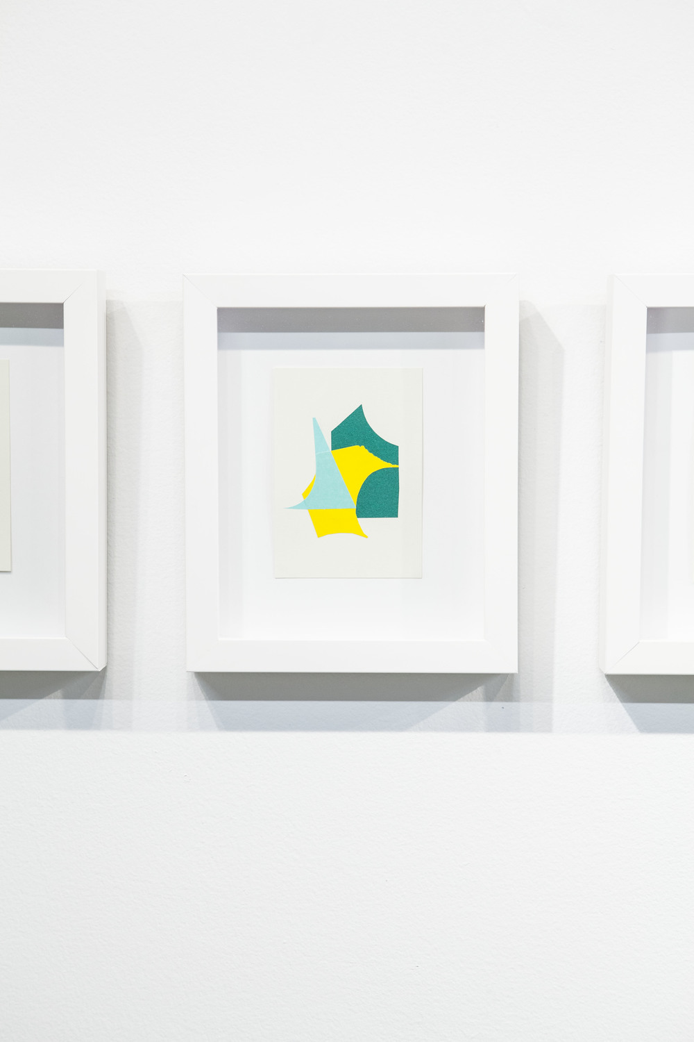 Shape & Color Studies #312  , 2014 Found cut paper on found paper, framed 6   1⁄2   x 8 inches