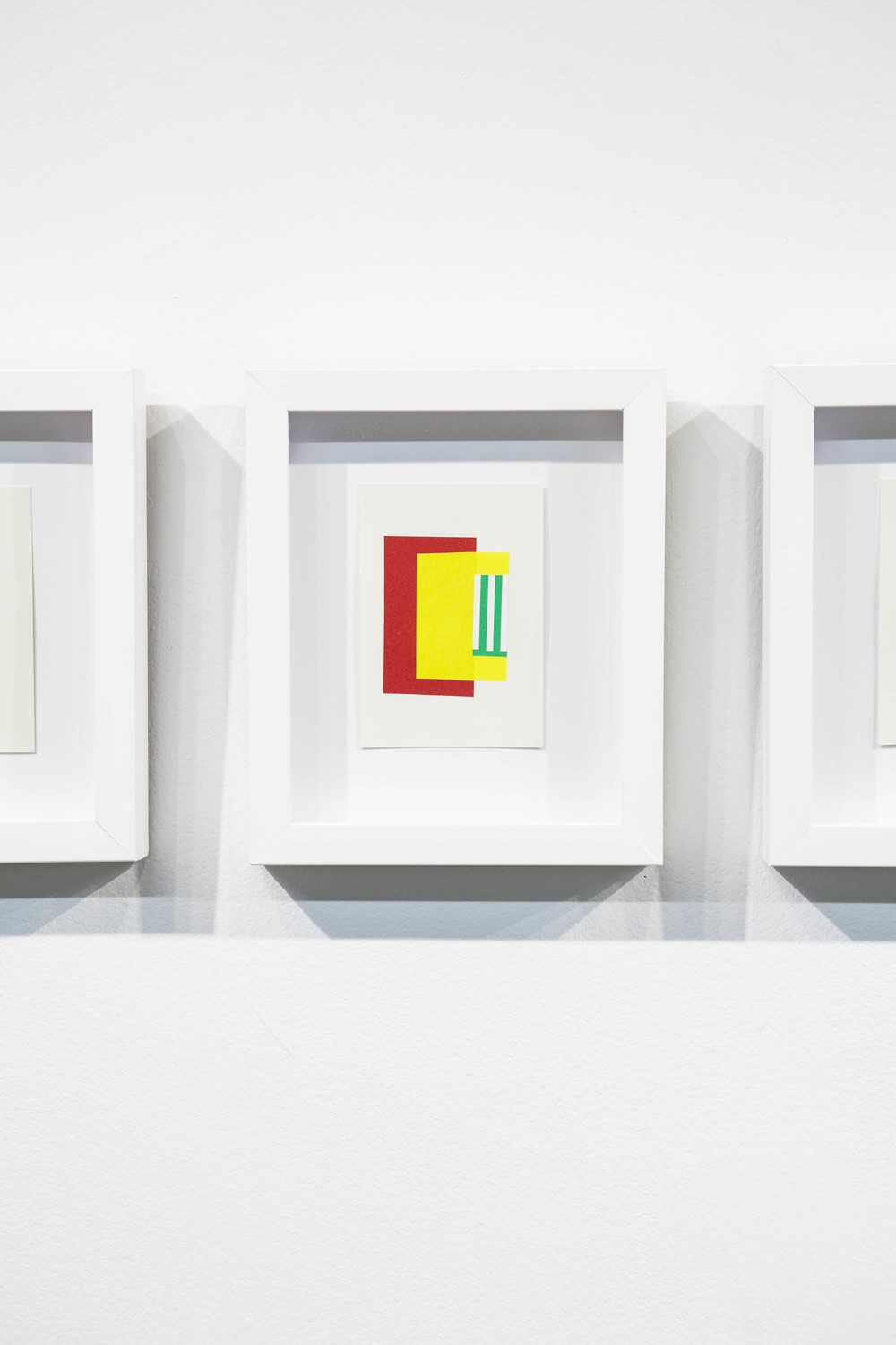 Shape & Color Studies #314  , 2014  Found cut paper on found paper, framed 6   1⁄2   x 8 inches