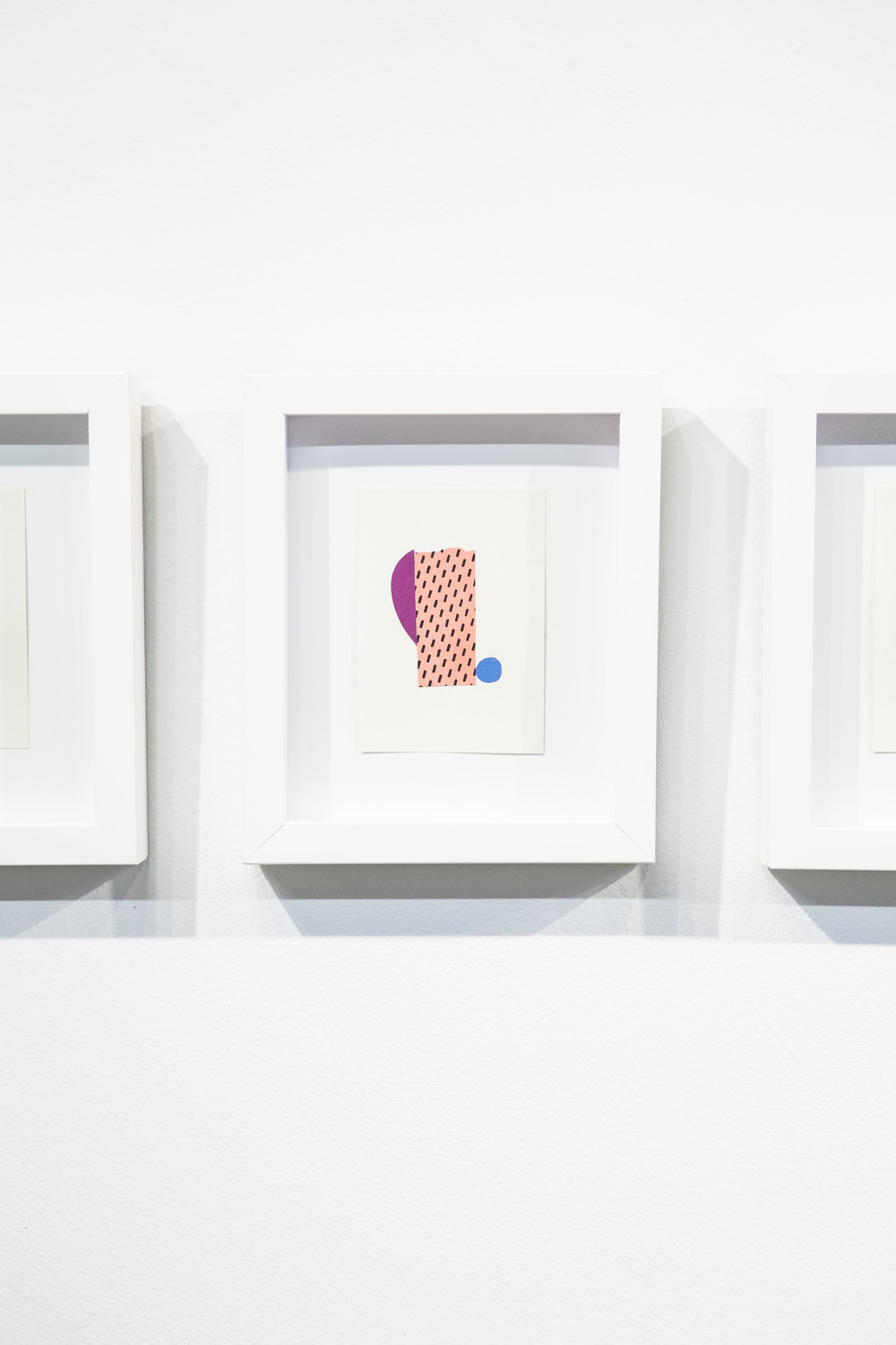 Shape & Color Studies #313  , 2014  Found cut paper on found paper, framed 6   1⁄2   x 8 inches