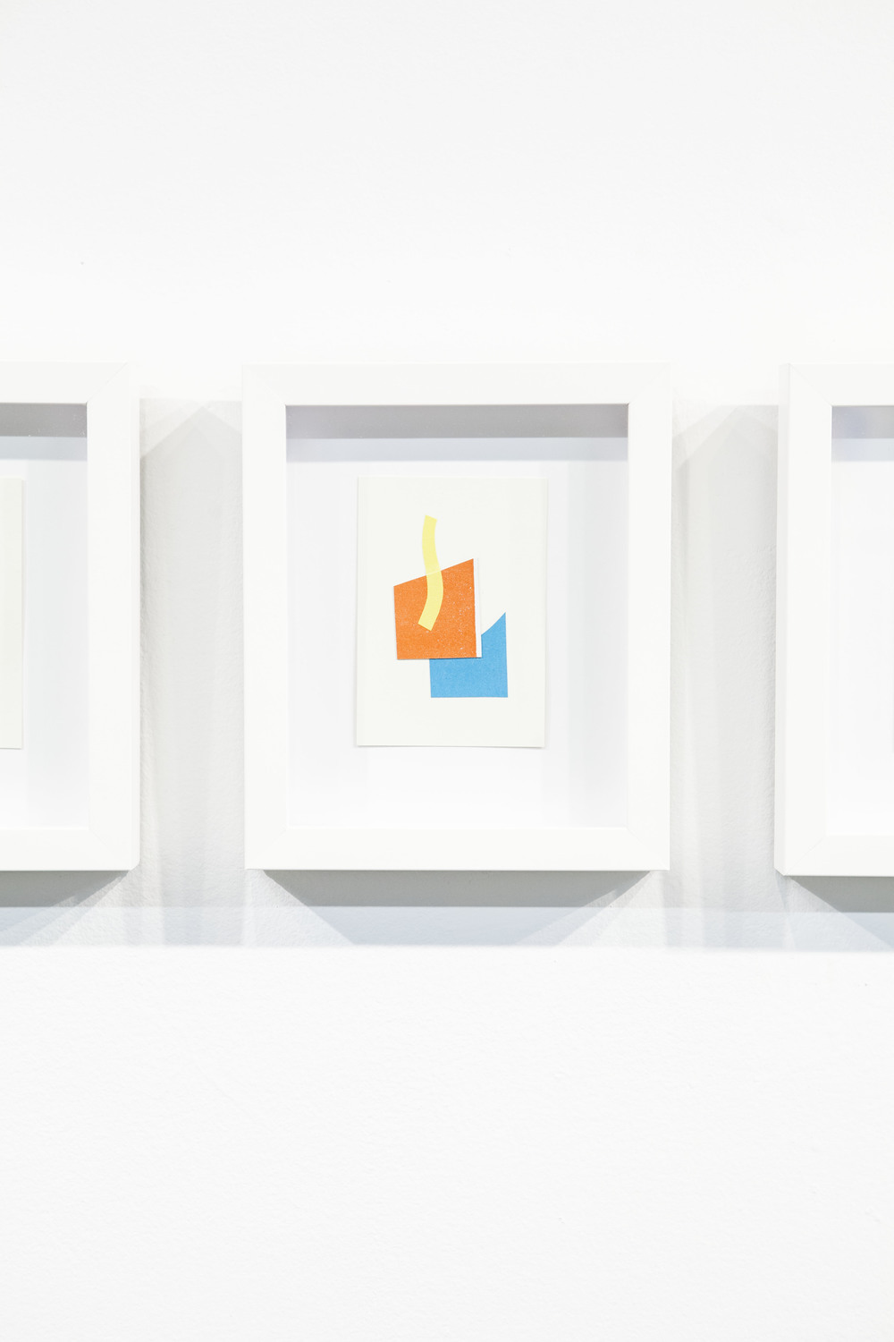 Shape & Color Studies #316  , 2014  Found cut paper on found paper, framed 6   1⁄2   x 8 inches