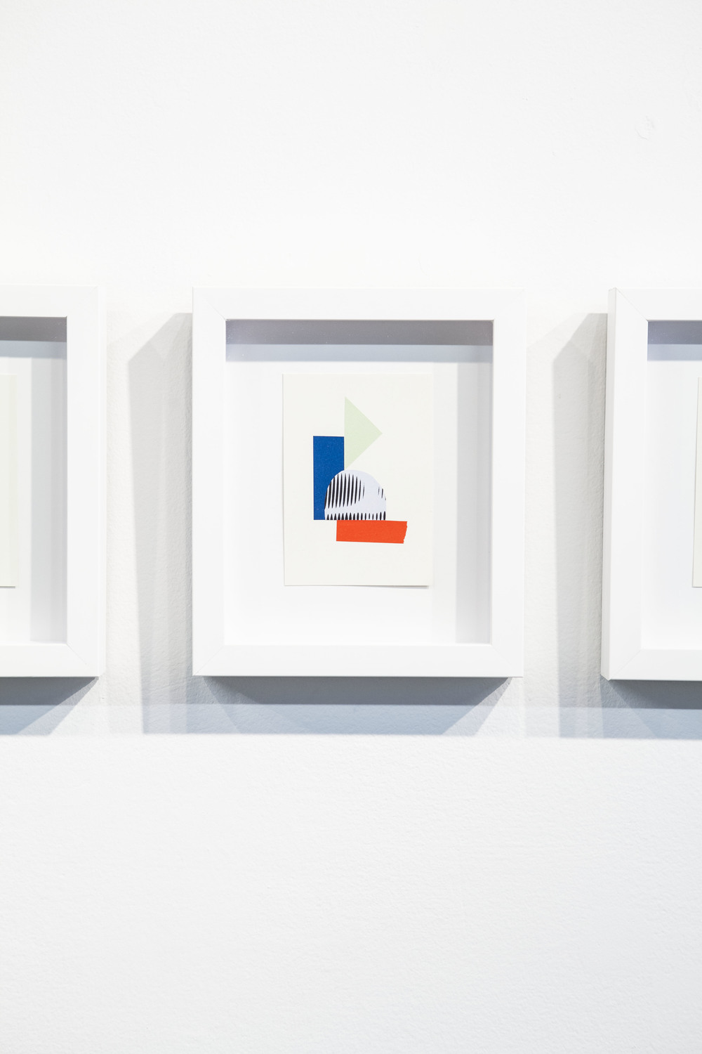 Shape & Color Studies #319  , 2014  Found cut paper on found paper, framed 6   1⁄2   x 8 inches