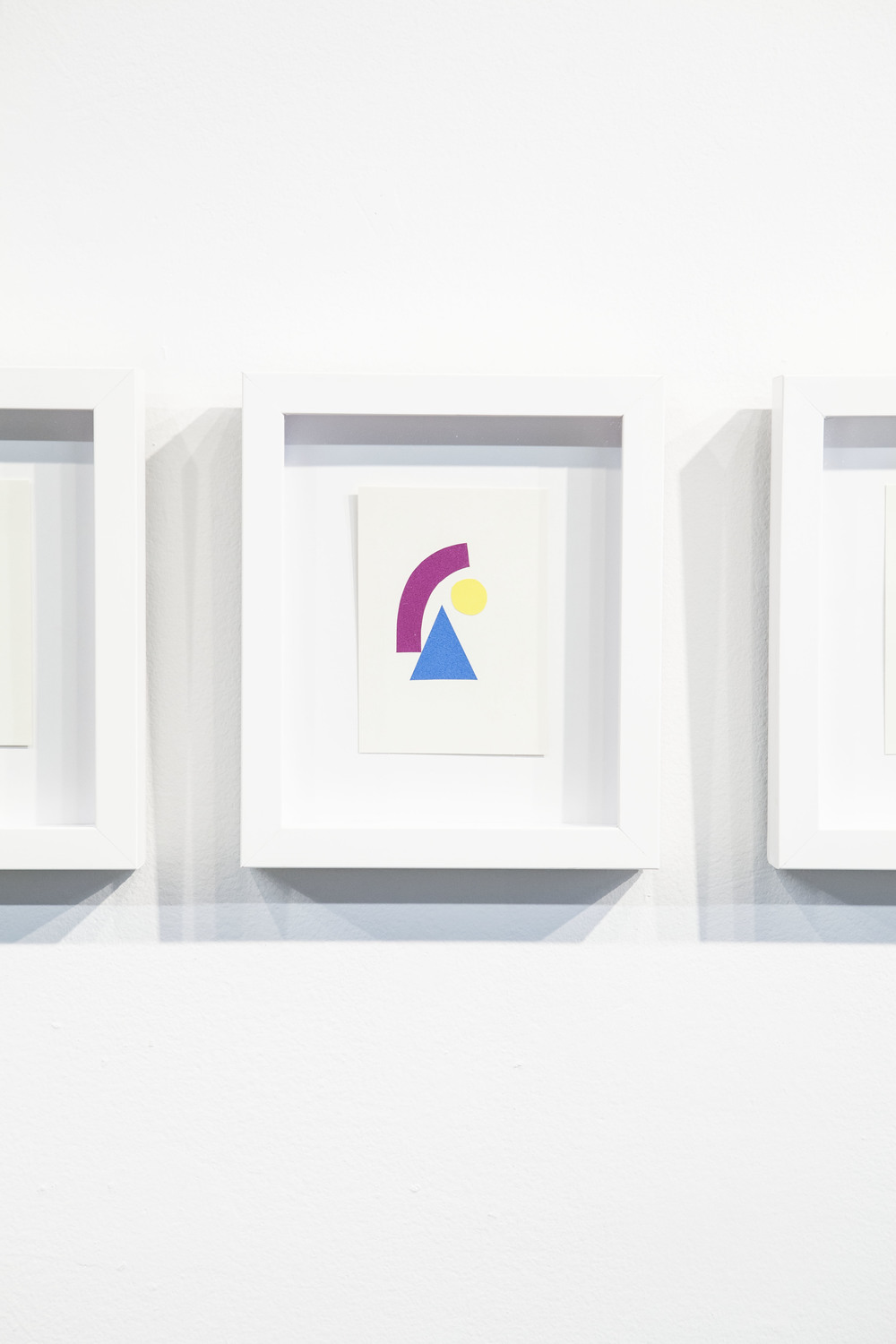 Shape & Color Studies #318  , 2014  Found cut paper on found paper, framed 6   1⁄2   x 8 inches