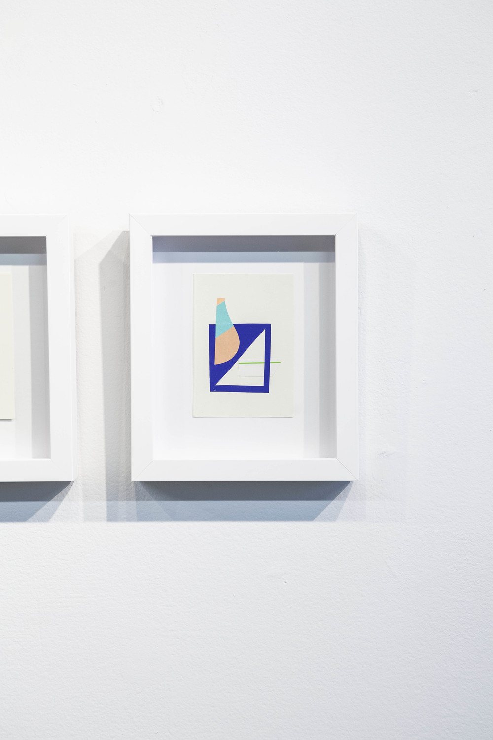 Shape & Color Studies #320  , 2014  Found cut paper on found paper, framed 6   1⁄2   x 8 inches