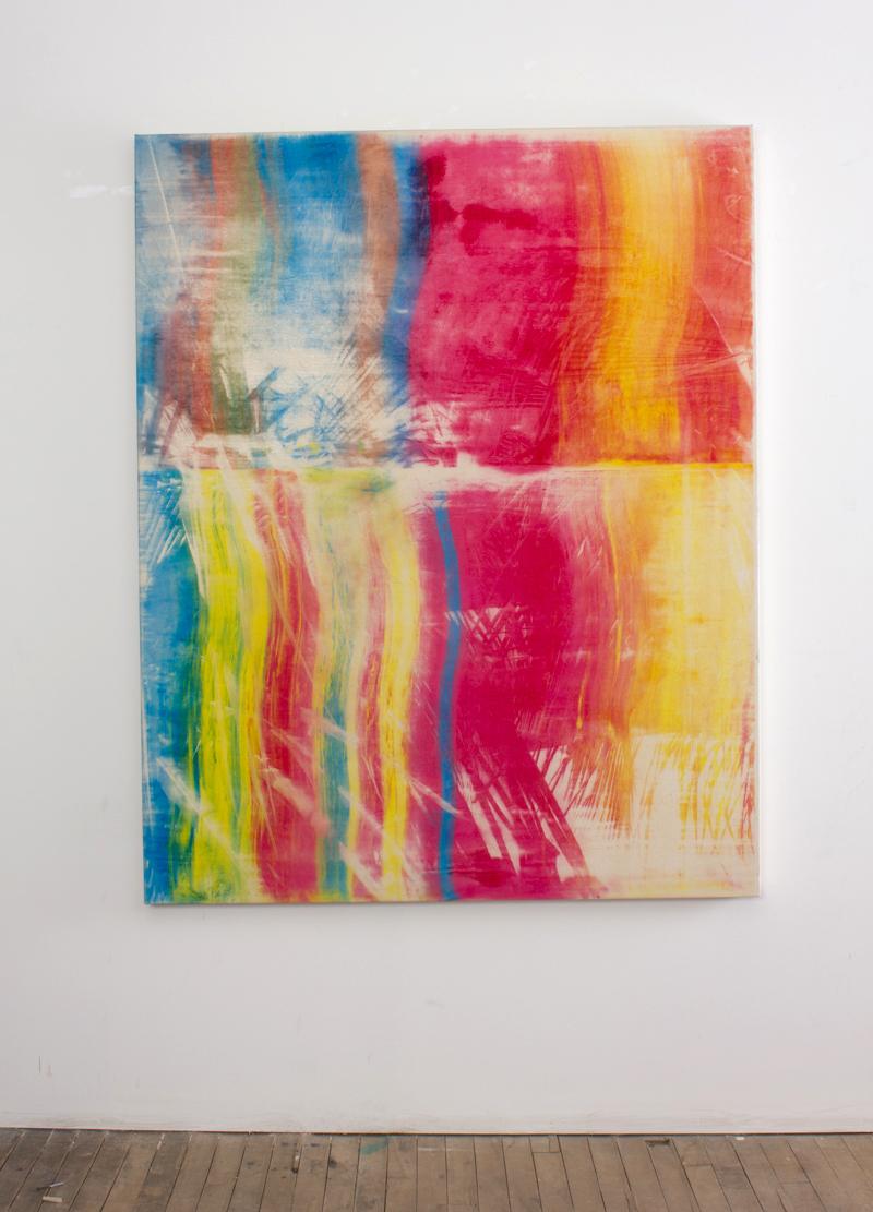Kevin Goodrich, Landscape No. 2, 2015, 48 x 60 inches, Copy-machine toner on canvas