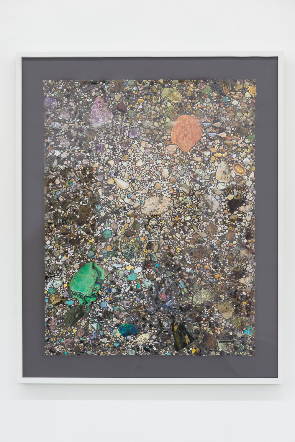 Rocks & Minerals VI, 2016 Collage on archival paper 40 x 32 inches, framed