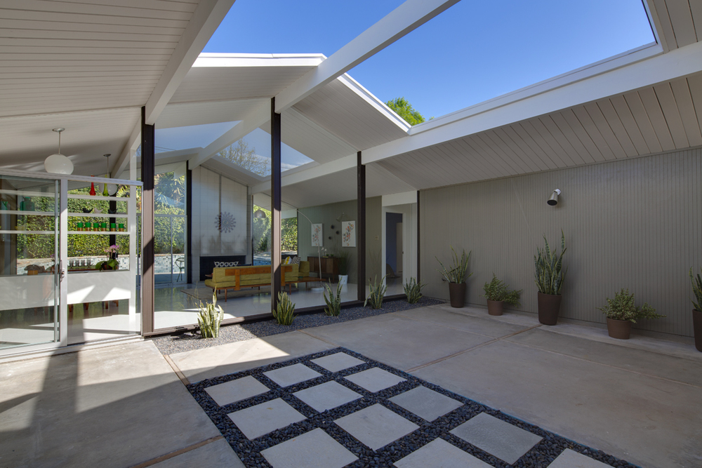 Not your average joseph eichler casara modern Eichler atrium floor plan