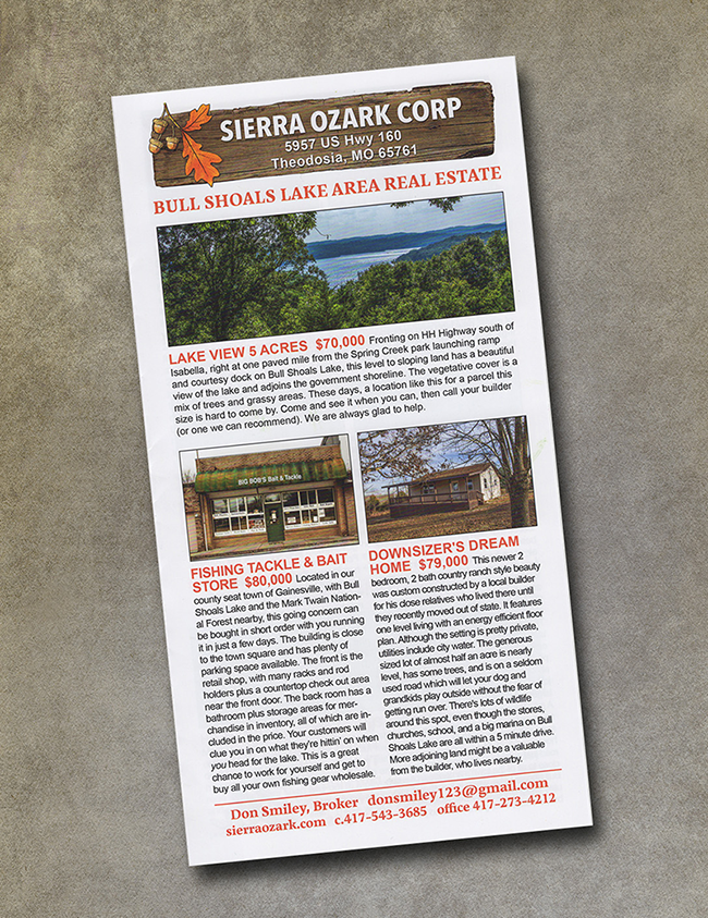 UPrinting Sierra Ozark 2018 real estate brochure