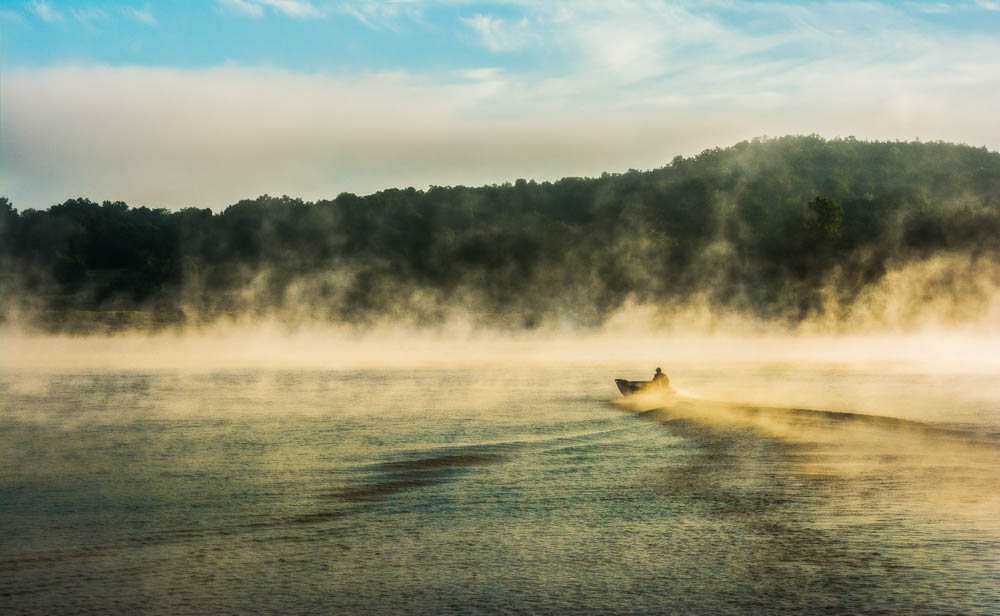 Bull Shoals Morning Fisherman