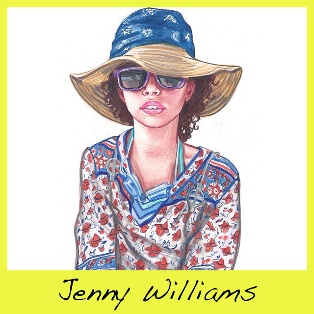 Jenny Williams is the amazing Brooklyn artist and mom behind the blog, What My Daughter Wore. The blog chronicles the fun, funky sartorial choices of her youngest child, and only girl, Clementine, and her female friends. Get the book, here.