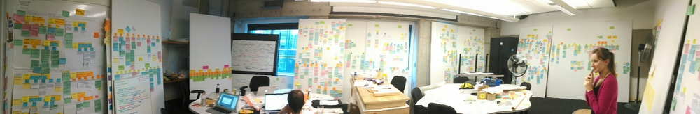 Yep, that's what 1800+ post its look like!