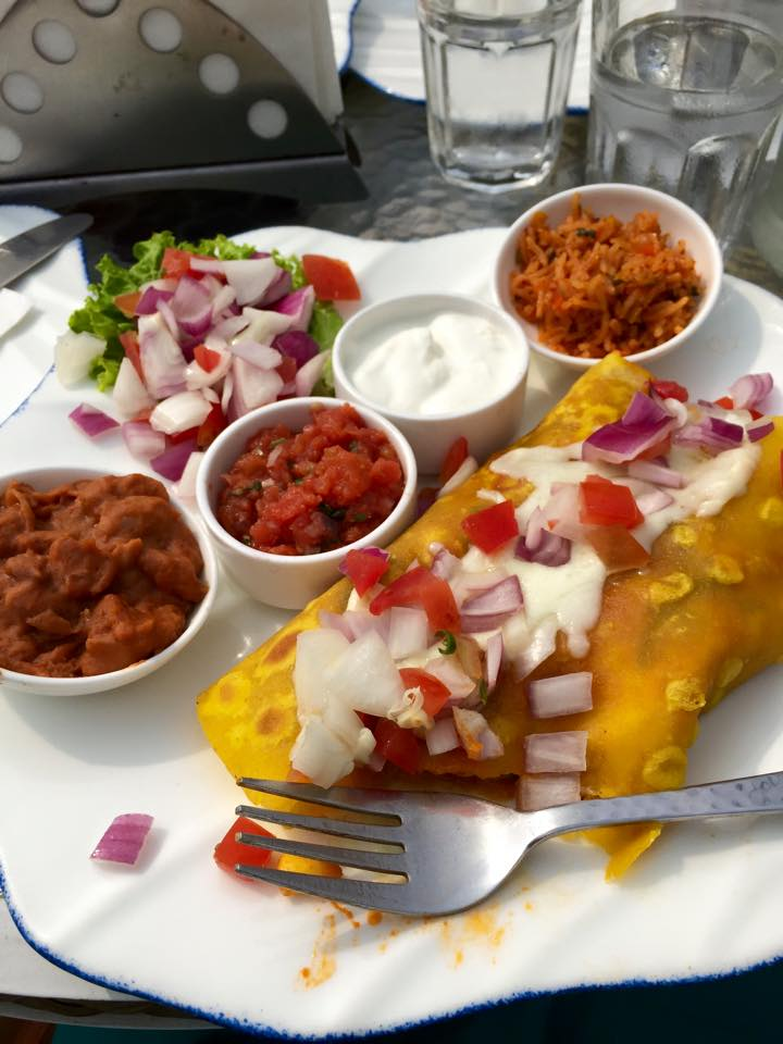 "Speaking of ""Indian quesadillas""... if you were ever curious about what an enchilada looked like in India, check out what I was served in a cafe in Delhi!"