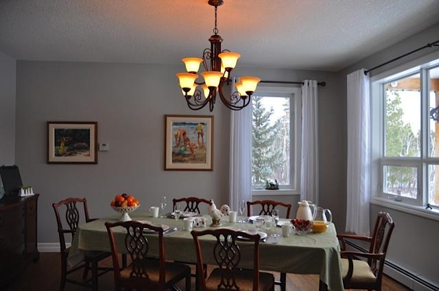 The main breakfast room