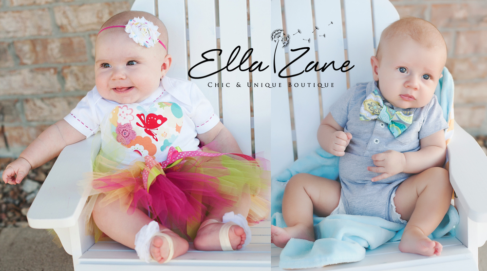 Our first set of cards. Zane, 3 months. Hadley, 4.5 months.