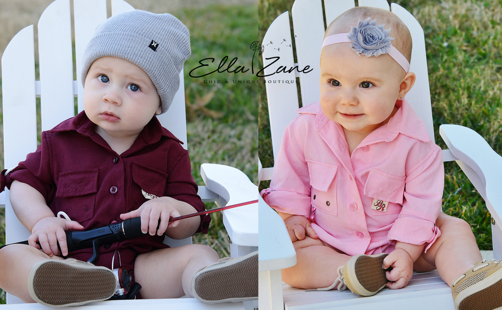 Our new cards! Look at how much the've grown! Zane, 7 months. Hadley, 8.5 months.