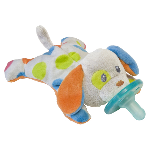WubbaNubs are pacifiers is made of medical grade silicone and BPA free. The soft plush portion provides comfort to the touch and makes it so much easier for the baby's little hands to grasp and manipulate the pacifier them self. Which means fewer bouncing, rolling and lost pacifiers and less rooting around in the stroller or bag to find the pacifier.