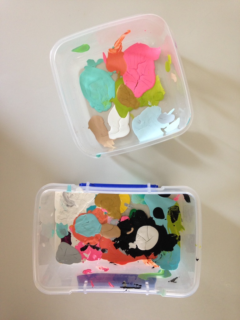 Make do with what you have! Tupperware will work just find for a palette.