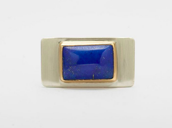 Lapis with gold bezel