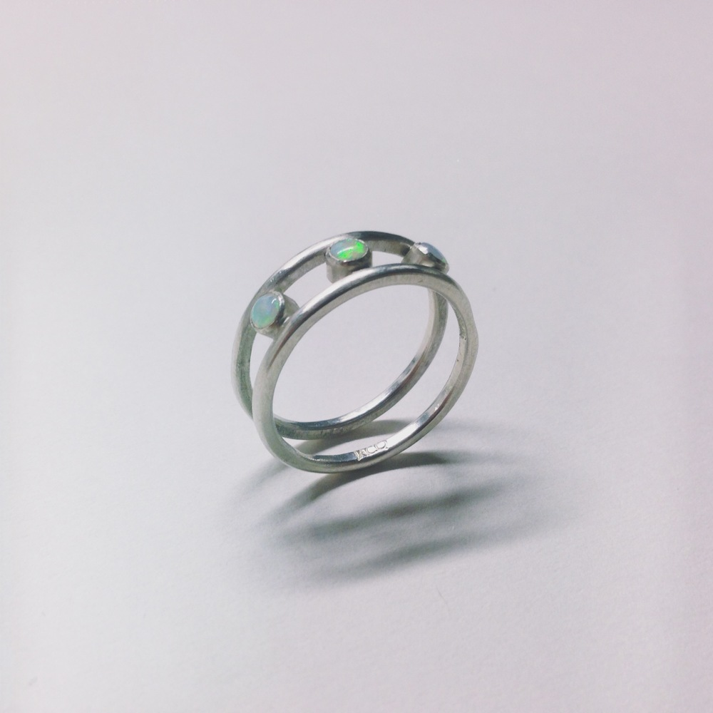 sterling silver and three opal ring.JPG
