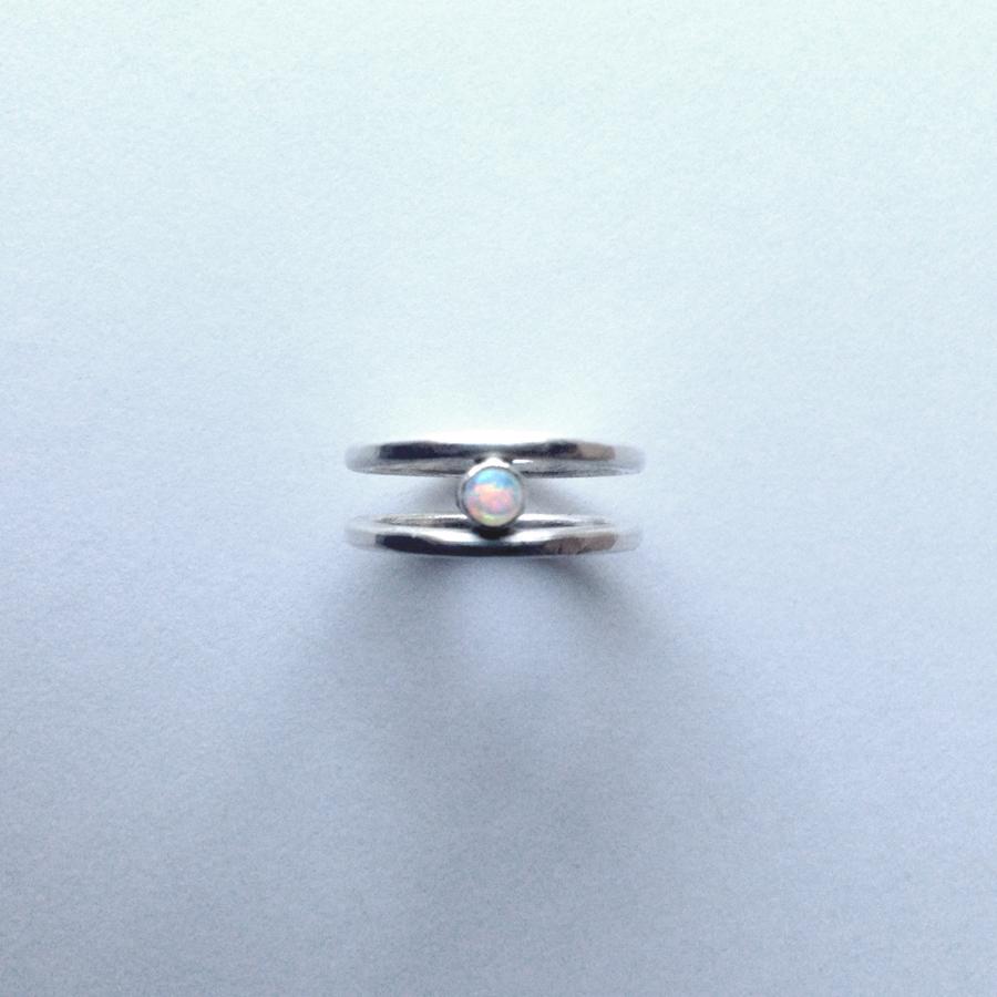 Minimalist Opal Ring