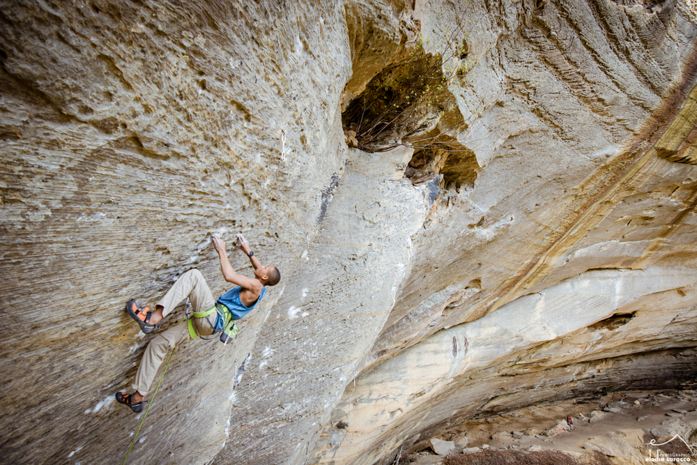 Kai at Red River Gorge - photo by Eddie Saracco