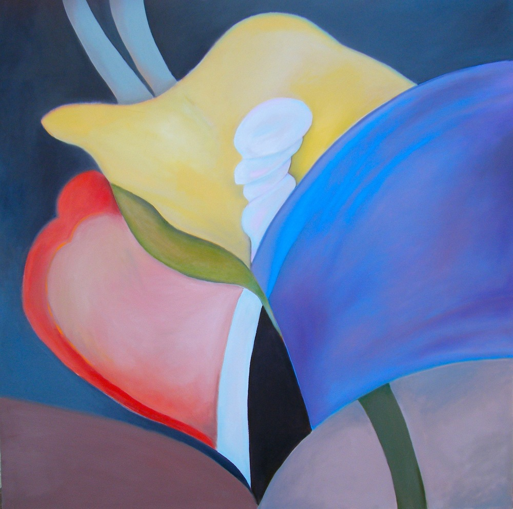 "Rick Borgia       emergence      2013     Oil on canvas    48"" x 48"""