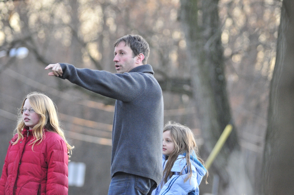 Robbie Directing Neighborhood kids