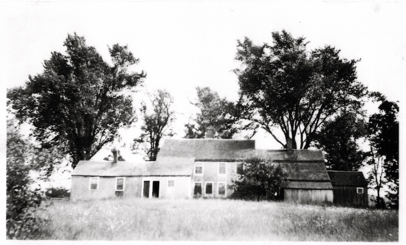 The rear elevation of the Barnes-Hill House in the 1920s