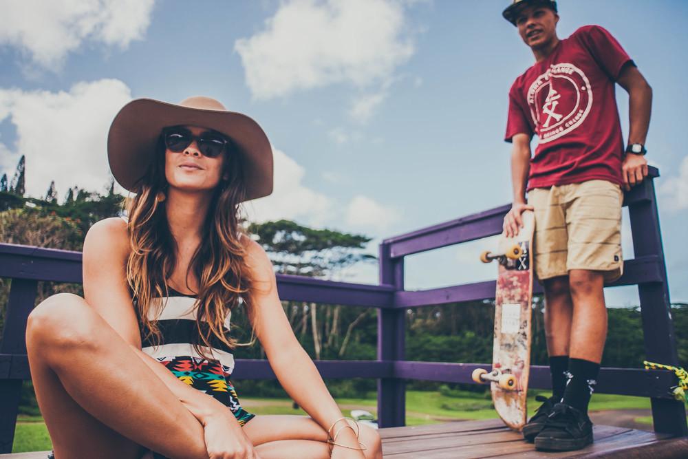 Aloha Exchange Maroon Stamp Tee Shirt  Stance Socks