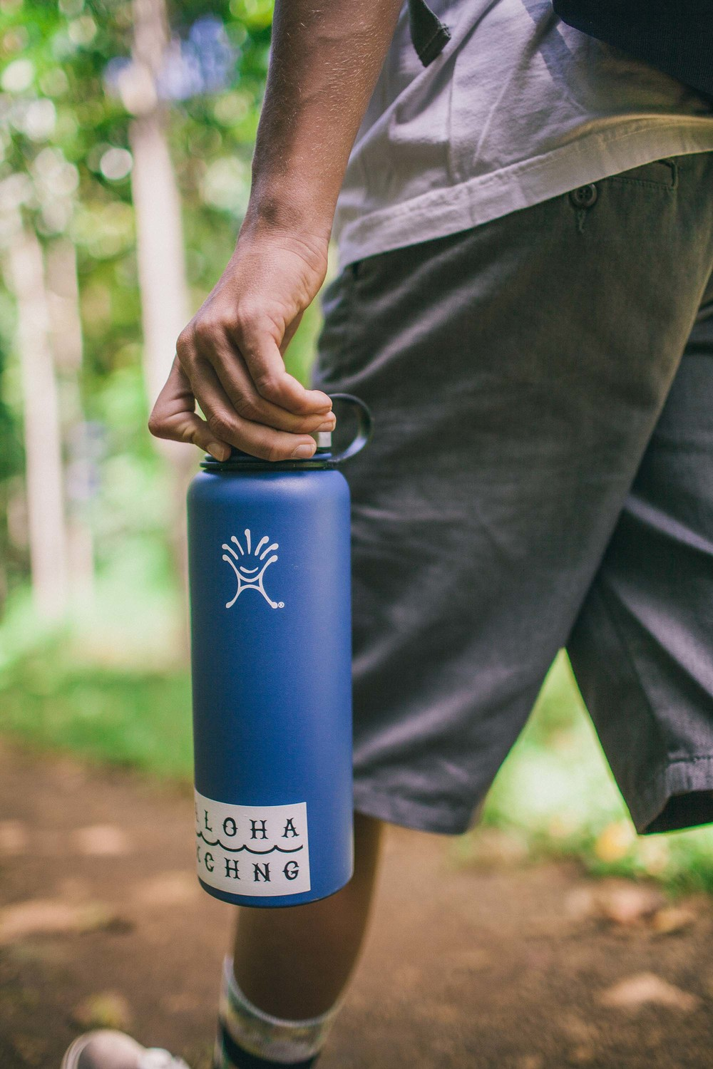 40oz Hydro Flask in Blue. Available in store.