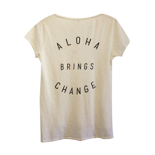 Women's Aloha Brings Change - in White