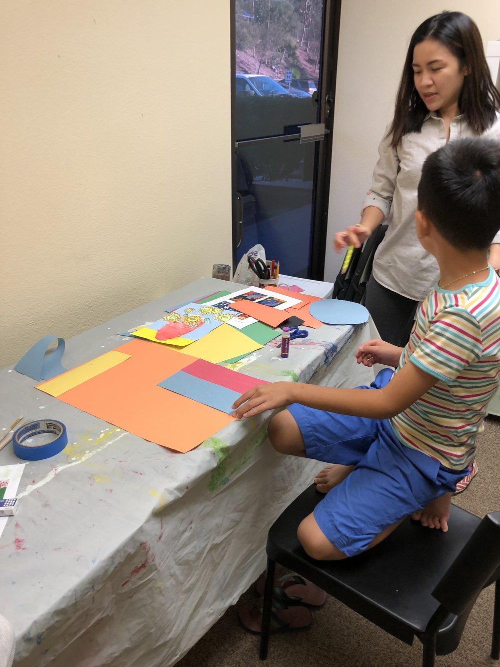 Color paper constructions
