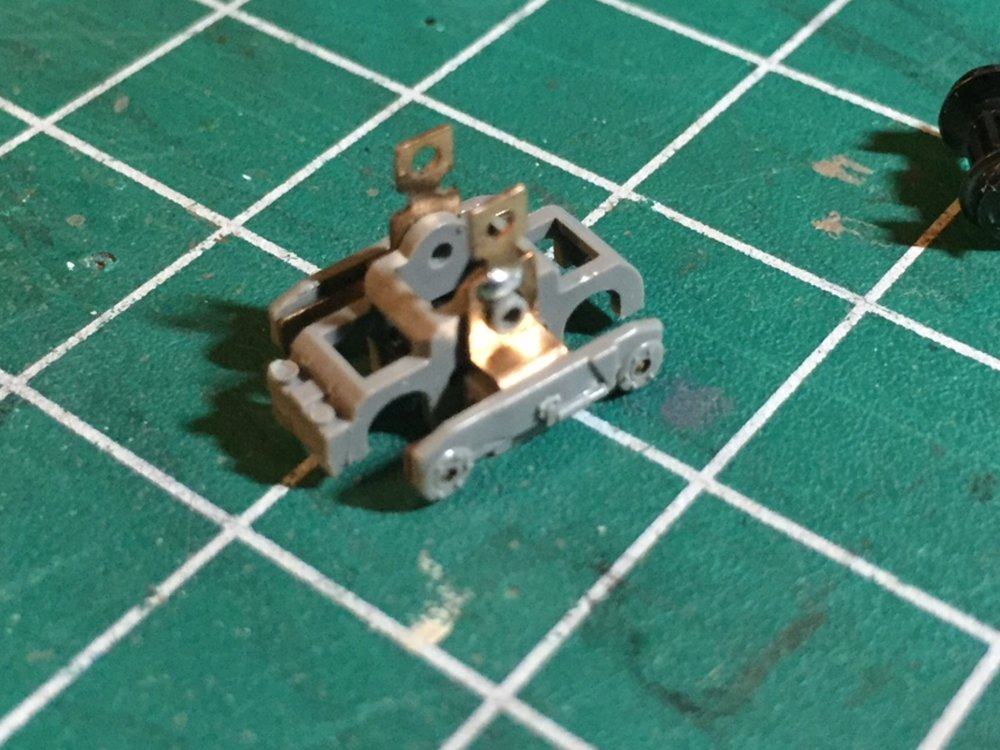 Cutting Complete! - This is how the truck will look with the coupler box and the wires trimmed off.