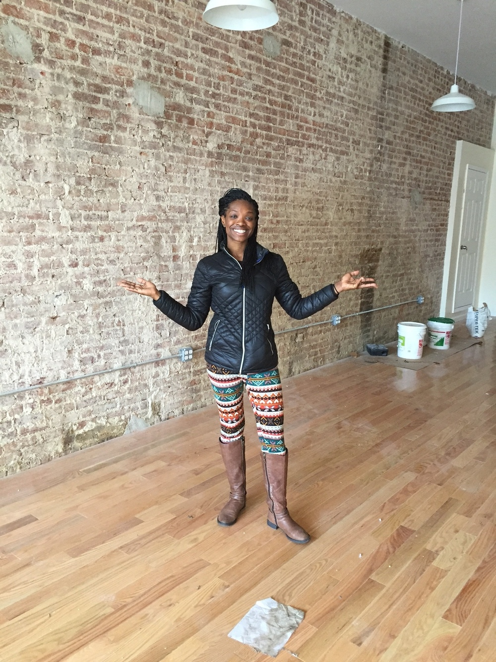 Owner + Instructor Laci Chisholm stands in the future Fit 4 Dance studio location.