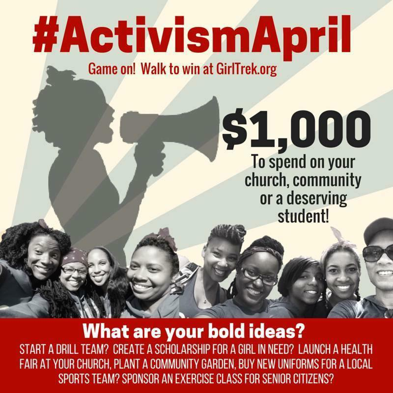 Win $1000 from GirlTrek & Improve the Health of Your Community