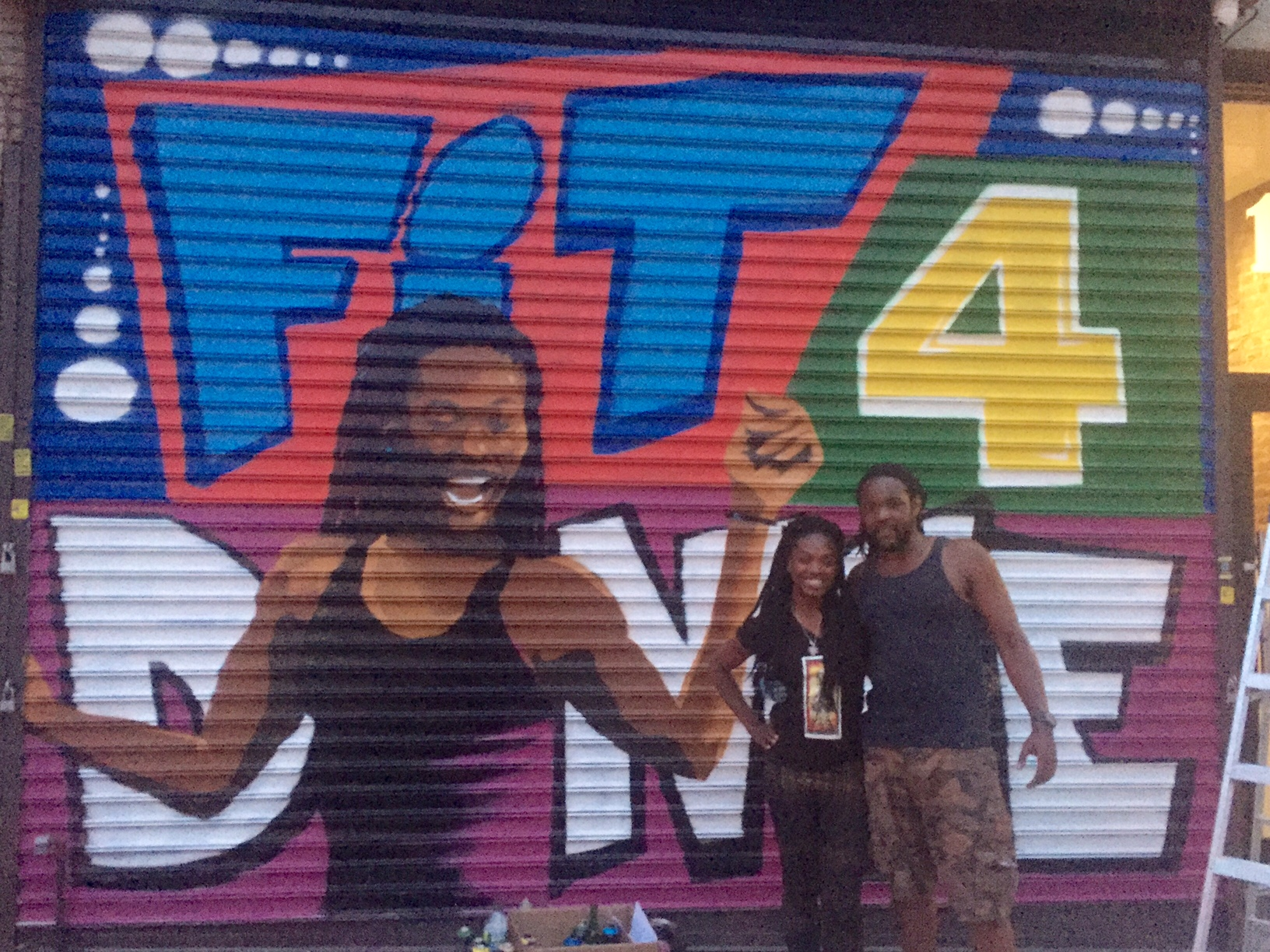 Fit4Dance Mural by Vincent Ballentine