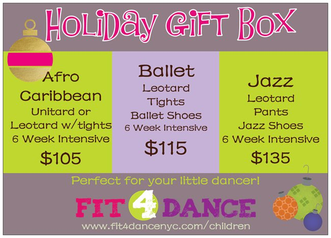 Holiday Dance Gift Box for Childen