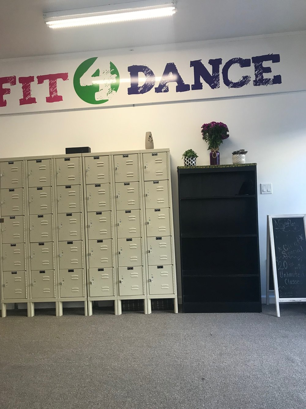 Fit4Dance Locker Area
